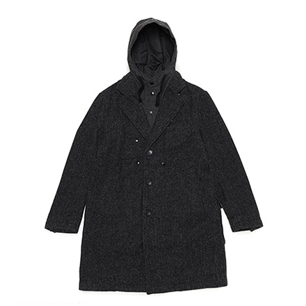 Chester Coat-24oz Wool HB-Dk.Grey