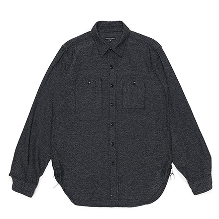Work Shirt-Broken Twill-Grey×Black