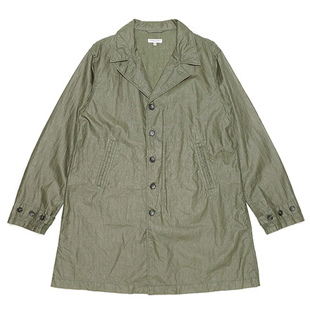 41 Duster-Coated Linen-Olive