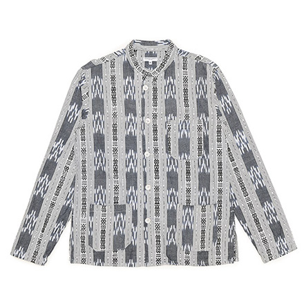 Dayton Shirt-Smal Ikat-Grey×White