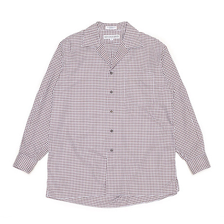 LOFTMAN別注 Amanda Shirts-Brown×White