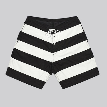 7Fix Walk Shorts-Black×White