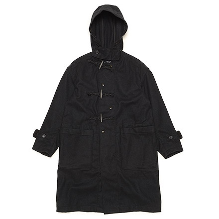 Duffle Coat-22oz Melton-Black