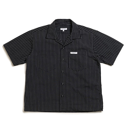 LOFTMAN別注 Transporter Shirt-Black Stripe
