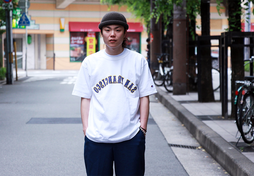 LOFTMAN別注 Printed T-San Francisco-White