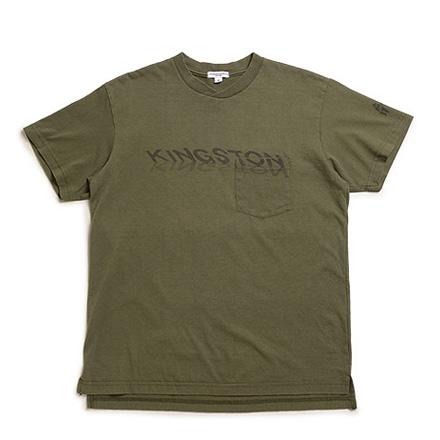 Printed Cross Crew Neck T Shirt-Kingston-Olive