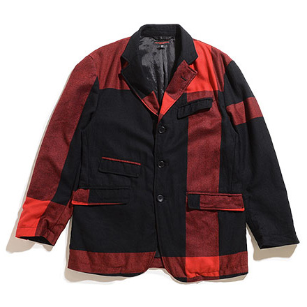 Andover Jacket-Big Plaid Worsted Wool Flannel-BLK