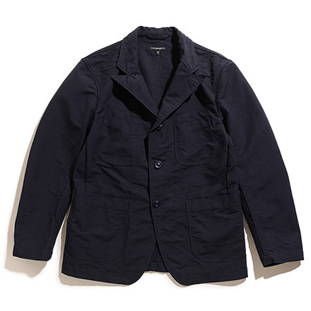 Bedford Jacket-Cotton Double Cloth-Dk.Navy