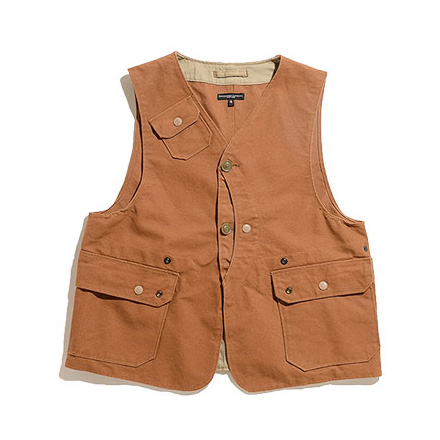 Upland Vest-12oz Duck Canvas-Brown