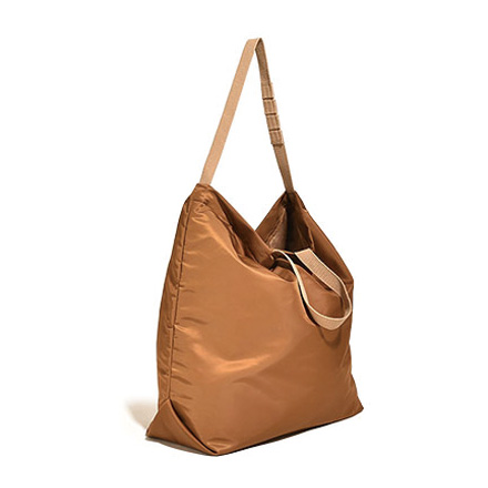 Carry All Tote with Snap Button-Khaki