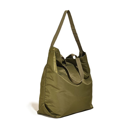 Carry All Tote with Snap Button-Olive