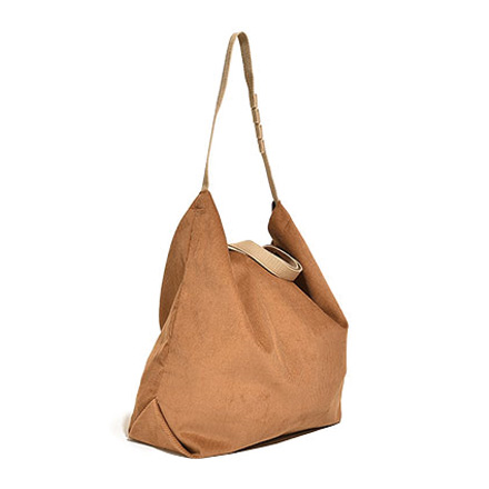Carry All Tote with Snap Button-Chestnut