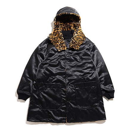 Liner Jacket-Cheetah Fur/PC Kasha-Black