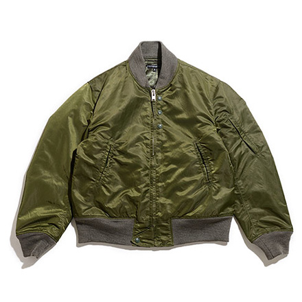 Aviator Jacket-Flight Sateen-Olive