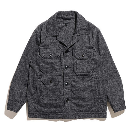 Cruiser Jacket-Wool Homespun-Grey
