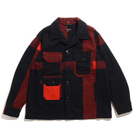 Cruiser Jacket-Big Plaid Wool Melton-Black