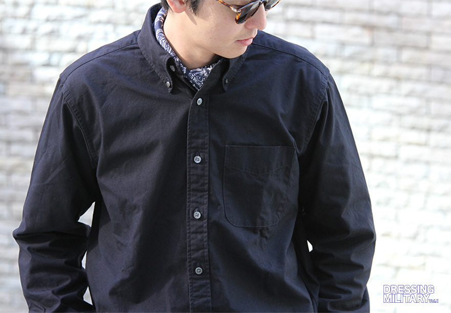 19th BD Shirt Cotton Ripstop-Navy