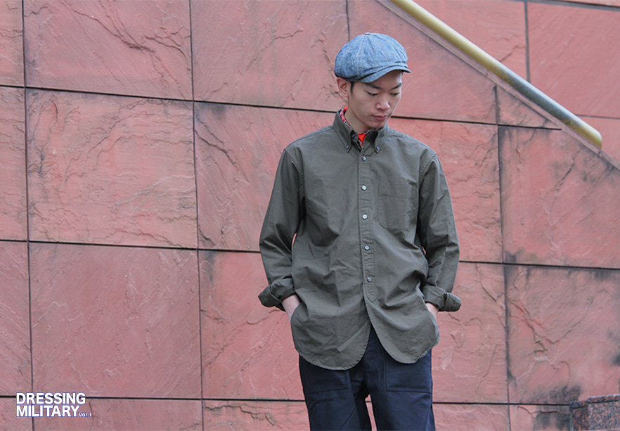 19th BD Shirt Cotton Ripstop-Olive