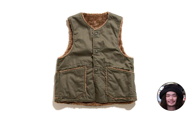 Over Vest-Cotton HB Twill-Olive