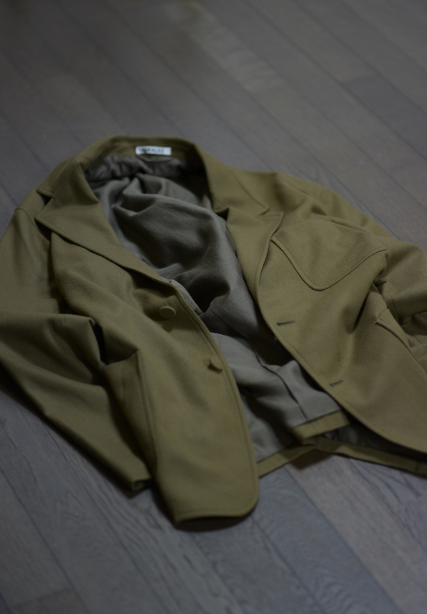 AURALEE/オーラリー  Super Soft Wool Flannel Jacket