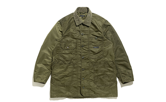 Long Logger Jacket-Flight Satin-Olive