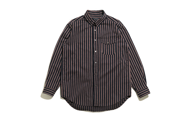 Tab Collar Shirt-Regimental St.-Navy